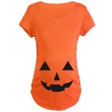 Stylish Jack-O-Lantern Halloween Maternity T-Shirt (CafePress.com)