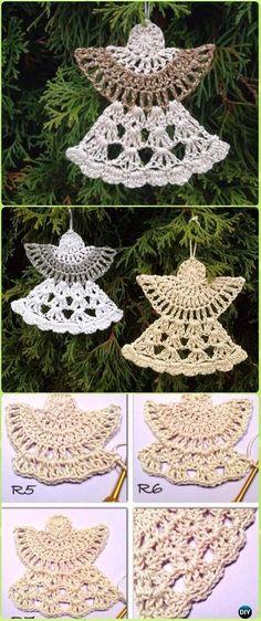 Crochet Guardian Angel Free Pattern - Crochet Angel Free P Marque-pages Au Crochet, Crochet Snowflake Pattern, Crochet Angels, Christmas Crochet Patterns, Holiday Crochet, Crochet Snowflakes, Christmas Knitting, Thread Crochet, Crochet Crafts
