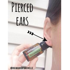 Geeez, can I just find ONE pair of earrings that don't bother my ears?? At least I have my Melaleuca that I dab directly on to my ear to help sooth the piercing hole. If you or any of your little cuties have this problem, Melaleuca is you go to! Take a drop and apply it to the area front and back and repeat this 3 times a day until better.. No dilution needed!! Now those who have sensitive ears to earrings, I need your help#doterra #doterralove #essentialoils #essentiallife #allnatural…