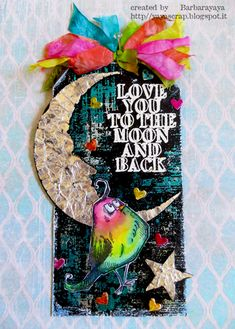 Crazy Bird - shooting for the moon are you? Atc Cards, Bird Cards, Card Tags, Tim Holtz Dies, Tim Holtz Stamps, Timmy Time, Crazy Bird, Crazy Cats, Handmade Tags