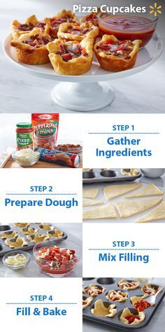Pizza Cupcakes! These treats are perfect for football parties and cook in under 20 minutes. All you need is pizza sauce, pepperoni, crescent roll dough, Italian sausage and mozzarella. Got a Game Time snack that makes the fans at your house cheer? You could win a trip to YouTube Space L.A. to help film a video! To enter, post a photo of your game snack on Twitter or Instagram with #walmartMVPcontest. Contest ends 11/9/15. Check out more Walmart Game Time recipes & tips.