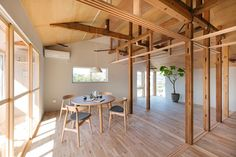 House Between Pillars is a minimal home created by Tokyo-based architects Camp Design inc.