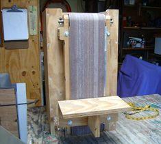 Neal Weeks's belt sander Woodworking Machinery, Woodworking Jigs, Woodworking Projects, Diy Belt Sander, Wood Jig, Homemade Tables, Tools And Toys, Diy Shops, Bedroom Furniture Design