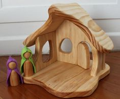 Wooden Gnome House wood toy doll house for kids