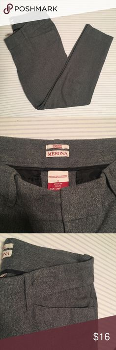 """Stretch Ankle Trousers Heather grey skinny ankle trousers from Merona with a ton of stretch. Modern fit with mid rise. 25"""" inseam and 8"""" rise. So comfortable! Make an offer! 15% off bundles of 2 or more items. Merona Pants Trousers"""