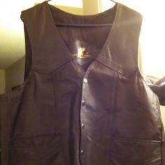 Mens Leather vest XXL mens orignal leather vest Jackets & Coats Vests