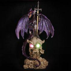 Dark Legends Horned Skull Ice Dragon with LED #fantasy #dragons #dark #skulls #gifts #unusual
