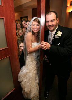 #Bride #Groom #door #wedding #AKO Photography www.akophotography.com