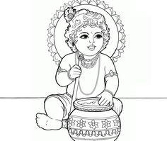 SHRI KRISHNA Janmashtami colouring