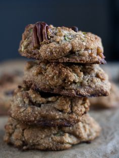 Zucchini bread cookies with bpecans and chocolate .....Awesome-Cookies-Vegan