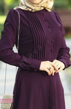My favorite color 😍 Sleeves Designs For Dresses, Dress Neck Designs, Stylish Dress Designs, Stylish Dresses, Abaya Fashion, Muslim Fashion, Fashion Cape, Fashion Clothes, Fashion Dresses