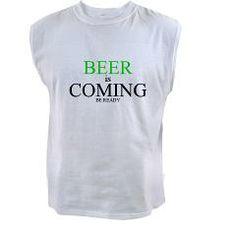 BEER is COMING Tank Top > St. Patty's Day > Rogue Neko $16.99 http://www.cafepress.com/Rogue_Neko