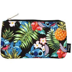 Disney Loungefly Disney Lilo & Stitch Pineapple Pencil Case ($7.87) ❤ liked on Polyvore featuring home, home decor, office accessories, disney, zipper pencil pouch, disney pencil case, zip pencil case and zipper pencil case