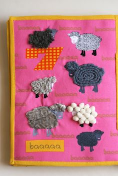 Barnyard counting, handmade quiet busy book