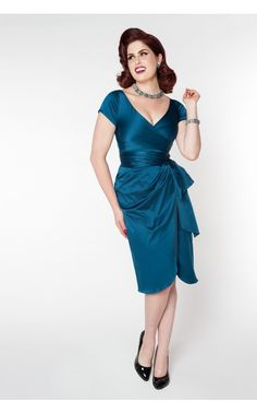 Pinup Couture - Ava Dress in Teal | Pinup Girl Clothing