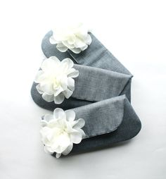 Bridesmaid Clutches, Wedding Clutch Purse Set of 3