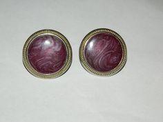 A Pair Of Beautiful Purple Colored Stone LookRound by ZiggyzAttic