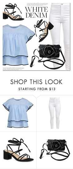 """""""White denim"""" by paculi ❤ liked on Polyvore featuring Anja, StreetStyle, Summer, casual and whitejeans"""