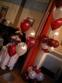 Burgundy and Ivory Wedding Balloon Decor by Garfield's Balloons Weddings Tamworth, via Flickr