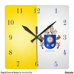 Papal Coat of Arms Square Wall Clocks | 60 OFF Clocks | Up to 50% OFF everything else | Use code CRAZYWEEKEND during checkout. Offer is valid through November 29, 2015 11:59PM PT.