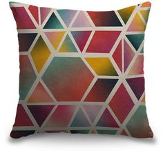 Go bold with this modern colorful designer throw pillow. Available as a high quality indoor or outdoor pillow at CanvasOnDemand.com.