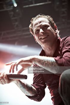 Corey Taylor of American alternative metal band Stone Sour performing live onstage at the Wolverhampton Civic Hall, December Get premium, high resolution news photos at Getty Images Corey Taylor Tattoos, Stone Sour, Alternative Metal, Hubba Hubba, Slipknot, Beautiful Person, Dream Guy, Love Him, Singers