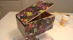 Day 7: decoupaged cigar box with gorgeous pages from a catalog #30DoC
