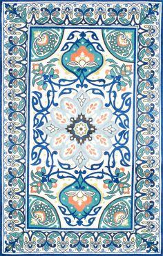 Floral Leda Blue Area Rug♀️♀️♀️More Pins Like This At FOSTERGINGER @ Pinterest ♂️