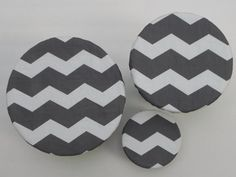 Reusable Cloth Bowl or Plate Covers by bgreenBuyUsed #chevron