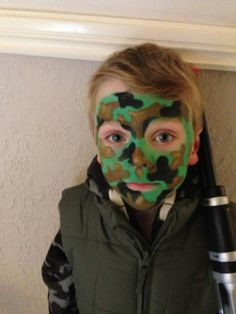 Army face paint tutorial