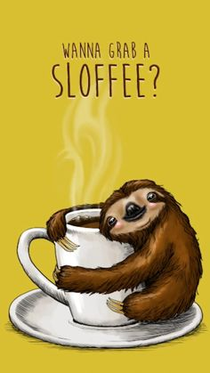 Sloths are lazy. That's why we love growing more coffee (and earning more money!) for free. Want to find out how one coffee farm did it? Cute Baby Sloths, Cute Sloth, Cute Baby Animals, Funny Animals, Animal Puns, Comics Ladybug, Dibujos Cute, Love Is Free, My Spirit Animal