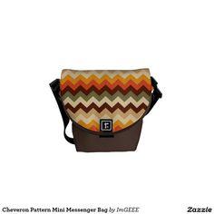 Cheveron Pattern Mini Messenger Bag