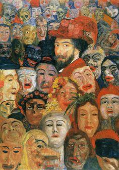 アンソール《仮面の中の自画像》1899 メナード美術館(特別出品)
