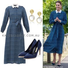The Duchess of Cambridge's outfit for for 72nd birthday celebration of the NHS on 5 July 2020 Kate Middleton Outfits, Kate Middleton Style, Duchess Kate, Duchess Of Cambridge, Princesa Real, Kate And Meghan, Royal Life, Silk Midi Dress, Love Her Style