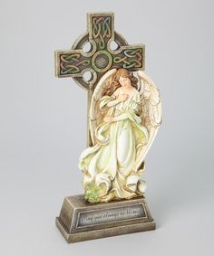 Look what I found on #zulily! Celtic Angel Cross Stand #zulilyfinds