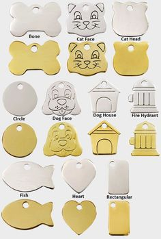 ENGRAVED DOG TAGS Stainless Steel Brass Personalized Pet Cat ID Custom Tag Charm in Pet Supplies, Dog Supplies, Tags & Charms | eBay