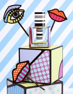 """Pop art store lips (""""Playing With Color"""" Photographed By Lacey, Styled By Beth Fenton For Vogue Japan, March Arte Pop, Pop Art, Still Life Photography, Art Photography, Craig And Karl, Art Et Design, Graphic Design, Keramik Design, Vogue Beauty"""