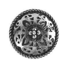 "Notting Hill [NHK-112-BN] Solid Pewter Cabinet Knob - Moroccan Jewel - Brite Nickel Finish - 1 1/16"" Dia."