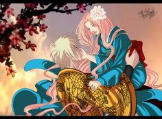 Naruto Uzumaki x Sakura Haruno | NaruSaku | Heaven & Earth | Orange / Yellow & Pink / Red | Hero & Heroine | The King & Queen | Naruto Shippuden Couple | OTP