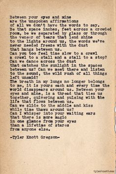 Typewriter Series #554 by Tyler Knott Gregson