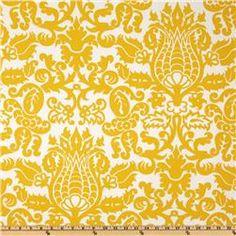 $7.98/yd Premier Prints Twill Amsterdam Corn Yellow
