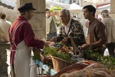 Directed by Lasse Hallström.  With Helen Mirren, Om Puri, Manish Dayal, Charlotte Le Bon. The Kadam family leaves India for France where they open a restaurant directly across the road from Madame Mallory's Michelin-starred eatery.