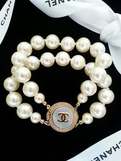Authentic+Chanel+Button+Pearl+Bracelet+by+MiniFavoriteThings,+$169.00
