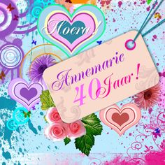 sier bloemen en harten zelf invullen - Uitnodigingen - Kaartje2go