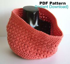 PDF Pattern Crochet Aligned Puffs cowl pattern by Crochetkari