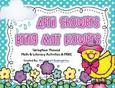 Plants & Spring - April Showers Bring May Flowers - Math,
