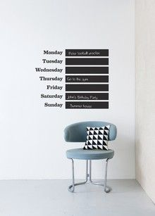 This Week - Chalkboard Days of the Week