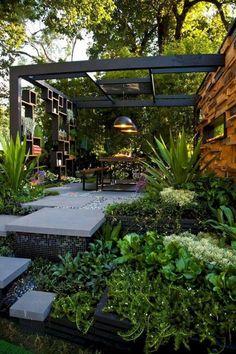 40 Awesome Backyard Garden Landscaping Ideas On a Budget Erstaunliche 40 fantastische Hinterhof-Gart Small Backyard Landscaping, Backyard Garden Design, Modern Landscaping, Patio Design, Backyard Patio, Landscaping Ideas, Backyard Ideas, Landscaping Software, Pergola Ideas