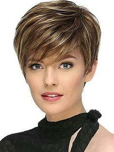 Buy Fashion Golden Short Straight Hair High Temperature Wig, sale ends soon. Be inspired: discover affordable quality shopping on Gearbest Mobile! Short Hairstyles For Thick Hair, Short Grey Hair, Short Straight Hair, Short Hair With Bangs, Short Hair With Layers, Haircut For Thick Hair, Short Hair Cuts For Women, Wig Hairstyles, Short Hair Styles