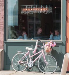 Pink Schwinn with Streamers and Basket (although not a daisy basket)